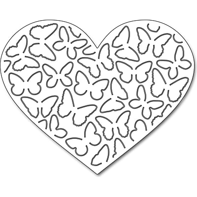 Penny Black 51291 Penny Black Creative Dies-Butterfly Heart Pop Out, 3.7