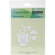"""Penny Black 51281 Penny Black Creative Dies-What's In Your Cup?, 2.1""""X3.3"""""""