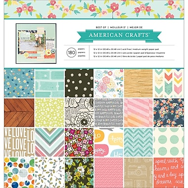 American Crafts 366473 American Crafts Single-Sided Paper Pad 12