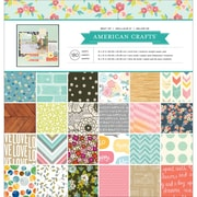 """American Crafts 366473 American Crafts Single-Sided Paper Pad 12""""X12"""" 180/Pkg-Best Of American Crafts"""