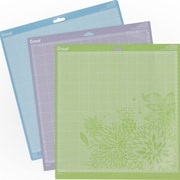"Provo Craft 2003546 Cricut Adhesive Back Cutting Mats 12""X12"" 3/Pkg-Green, Blue & Purple"