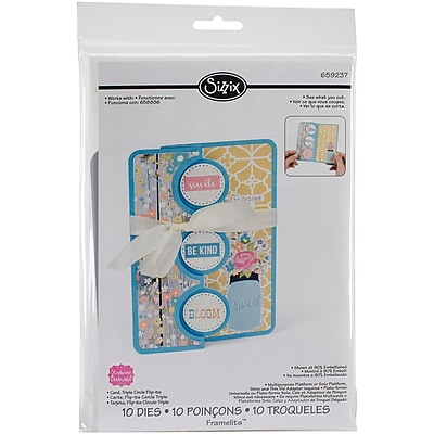 Sizzix 659237 Sizzix Framelits Dies 10/Pkg-Triple Circle Flip-Its Card