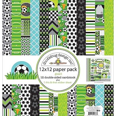 Doodlebug GO4886 Doodlebug Double-Sided Paper Pack 12