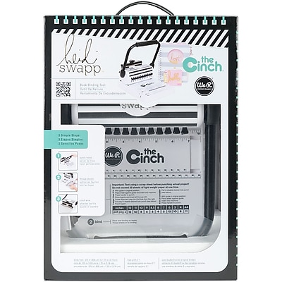 We R Memory Keepers 662789 Heidi Swapp Cinch Book Binding Tool W/Square Holes-11.5