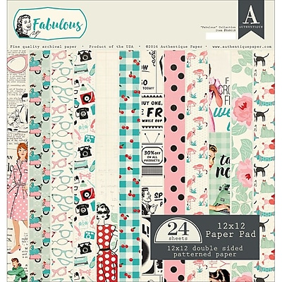 Authentique Paper FAB018 Authentique Double-Sided Cardstock Pad 12