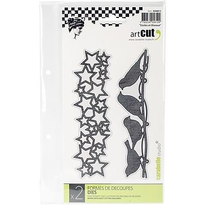 Carabelle Studio AC60012 Carabelle Art Cut Die-Stars And Birds, 2/Pkg