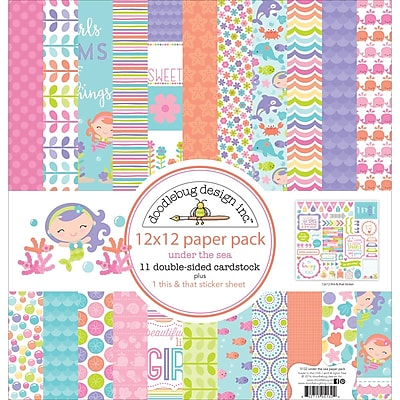 Doodlebug UTS5132 Doodlebug Double-Sided Paper Pack 12