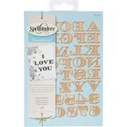 Spellbinders S5239 Spellbinders Shapeabilities Dies-Etched Alphabet W/Numbers