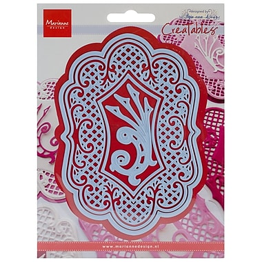 Ecstasy Crafts MLR0236 Marianne Design Creatables Dies-Anja's Large Oval, Up To 5.75
