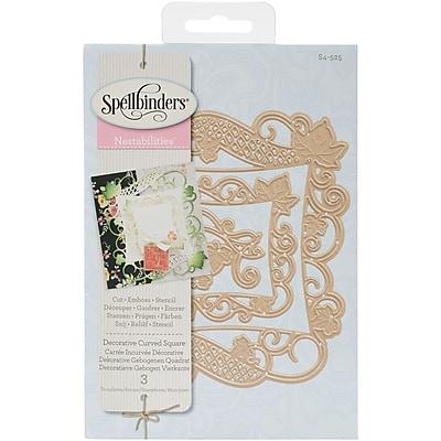 Spellbinders S4525 Spellbinders Nestabilities Decorative Elements Dies-Curved Square