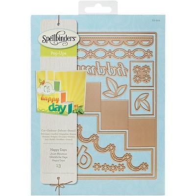 Spellbinders S7201 Spellbinders Card Creator Step Card-Happy Days