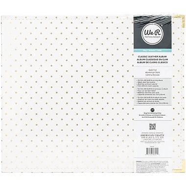 American Crafts 680341 American Crafts Leather D-Ring Album 12