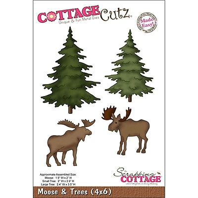 CottageCutz 4X6037 CottageCutz Die-Moose & Trees 1.9