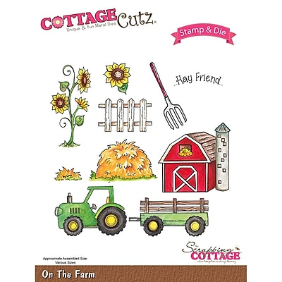 CottageCutz CCS017 CottageCutz Stamp & Die Set-On The Farm