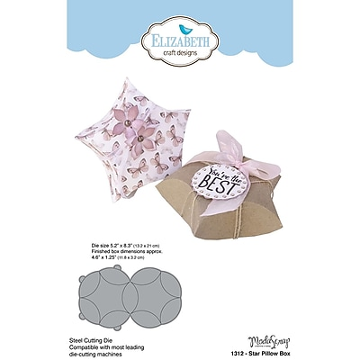 Elizabeth Craft Designs EC1312 Elizabeth Craft Metal Die By ModaScrap Designs-Star Pillow Box, Die 5.2