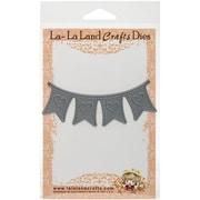 """La-La Land Crafts LL8026 La-La Land Die-Heart Banner, 1.6""""X4"""""""
