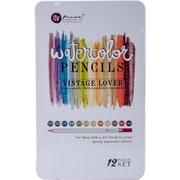 Prima Marketing WPSET-84672 Prima Marketing Mixed Media Watercolor Pencils 12/Pkg-Vintage Lover