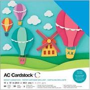 "American Crafts AC376990 American Crafts Variety Cardstock Pack 12""X12"" 60/Pkg-Brights"