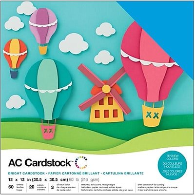 American Crafts AC376990 American Crafts Variety Cardstock Pack 12