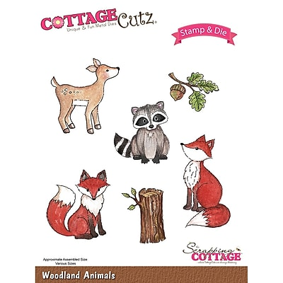 CottageCutz CCS019 CottageCutz Stamp & Die Set-Woodland Animals