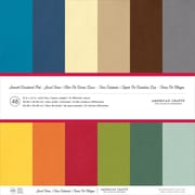 "American Crafts AM71825 American Crafts Smooth Cardstock Pack 12""X12"" 48/Pkg-Jewel Tones, 12 Colors/4 Each"