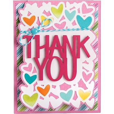 Sizzix 661832 Sizzix Framelits Drop-Ins Dies By Stephanie Barnard 4/Pkg-Thank You Card