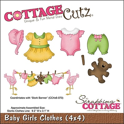 CottageCutz 4X4496 CottageCutz Die-Baby Girl Clothes .2