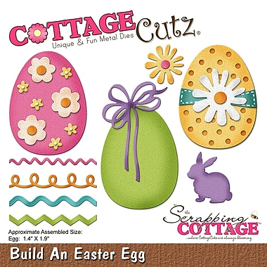 CottageCutz CC233 CottageCutz Die-Build An Easter Egg, 1.4