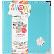 """Simple Stories SNAP6X8L-4036 Sn@p! Leather Binder 6""""X8""""-Teal"""