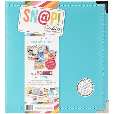 Simple Stories SNAP6X8L-4036 Sn@p! Leather Binder 6