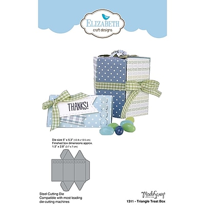 Elizabeth Craft Designs EC1311 Elizabeth Craft Metal Die By ModaScrap Designs-Triangle Treat Box, 5