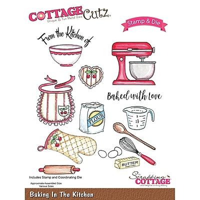 CottageCutz CCS013 CottageCutz Stamp & Die Set-Baking In The Kitchen