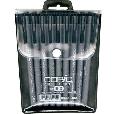 Copic Marker MLB2 Copic Multiliner Black Ink Pens 9/Pkg-Set B-2