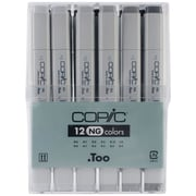 Copic Marker CNG12 Copic Original Markers 12pc Set-Neutral Gray