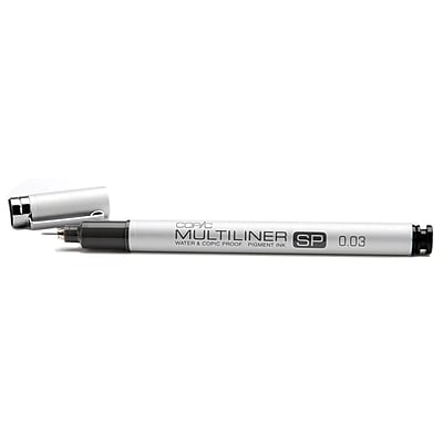 Copic Marker MLSP-003 Copic Multiliner SP Black Ink Pen-.03mm