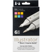 Crafter's Companion SPECN-IL-HUE Spectrum Noir Illustrator Twin Tip Markers 6/Pkg-Hues