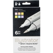 Crafter's Companion SPECN-IL-TIN Spectrum Noir Illustrator Twin Tip Markers 6/Pkg-Tints