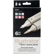 Crafter's Companion SPECN-IL-TON Spectrum Noir Illustrator Twin Tip Markers 6/Pkg-Tones
