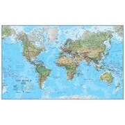 Maps International World Physical Laminated Wall Map (WPGR040)