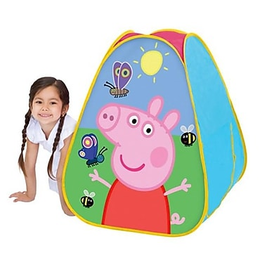 Playhut Peppa Pig Classic Hideaway Playhouse, Pink - 28 x 30 x 28 in. (PLYHT071)
