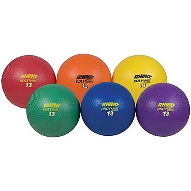 Olympia Sports 13 in. Ultimate Rhino Poly Playballs - Set of 6 (OSBL305P)