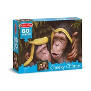 Melissa And Doug Cheeky Chimps Cardboard Jigsaw Puzzle, 60 Pieces (MLSSAND1374)