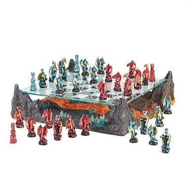 Home Locomotion 100 Fire River Dragon Chess Set (SWM12213)