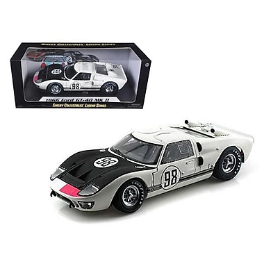 Shelby Collectibles 1966 Ford GT-40 MK 2 No.98 White 1-18 Diecast Car Model (DTDP1076)