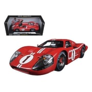 Shelby Collectibles 1967 Ford GT MK IV No.1 Red LeMans Winner 24 Hours 1-18 Diecast Model Car (DTDP1082)