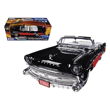 Motormax 1957 Buick Roadmaster Red & Black Custom 1-18 Diecast Car Model (DTDP637)