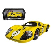 Shelby Collectibles 1967 Ford GT MK IV No.2 Yellow LeMans 24 Hours Mark Donohue B.Mclane 1-18 Diecast Model Car (DTDP1083)