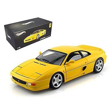 Hot wheels Ferrari F355 Berlinetta Yellow Elite Edition 1-18 Diecast Car Model (DTDP2365)