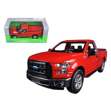 Welly 2015 Ford F-150 Pickup Truck Regular Cab Red 1-24 Diecast Model (DTDP1248)