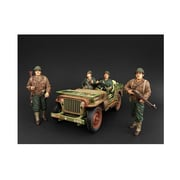 American Diorama 1 by 18 Scale US Army WWII 4 Piece Figure Set (DTDP2955)